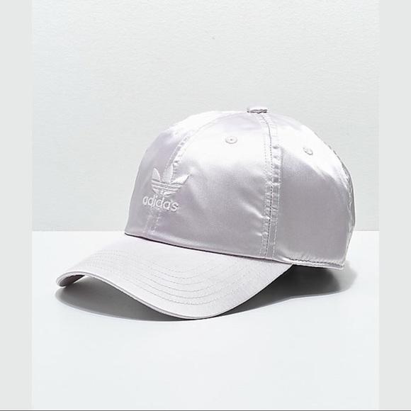 8c91c829e3cc5 adidas original ice purple satin strapback hat